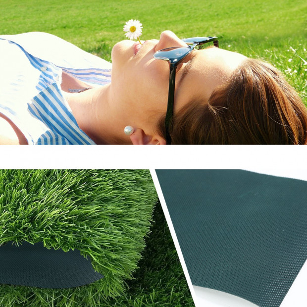 Self Adhesive Synthetic Turf Artificial Grass Lawn Tape 10mx15cm Image 2