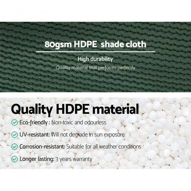 1.83x10m 30% UV Shade Cloth Shadecloth Sail Mesh Roll Outdoor Green Image 4