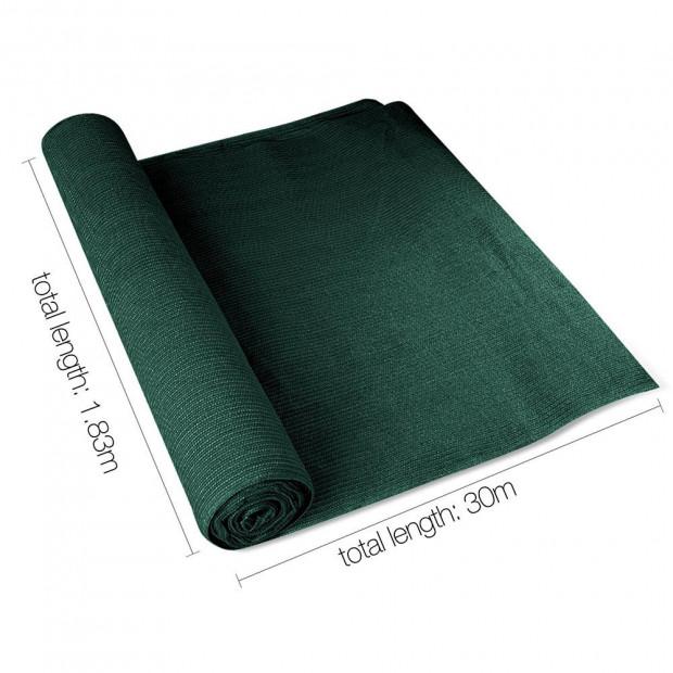 50% UV Sun Shade Cloth Sail Roll Mesh Outdoor 1.83x30m Green Image 1