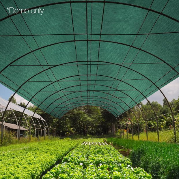 50% UV Sun Shade Cloth Sail Roll Mesh Outdoor 1.83x30m Green Image 6