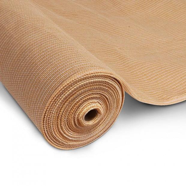 50% Shade Cloth Roll 1.83 x 50m - Beige Image 1