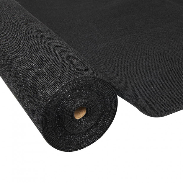 70% UV Sun Shade Cloth Sail Roll Mesh Garden Outdoor 1.83x50m Black