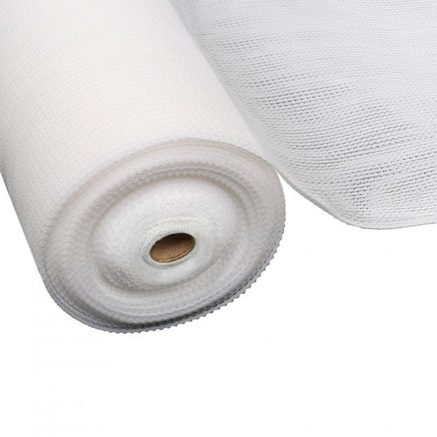 3.66x10m 50% UV Shade Cloth Sail Garden Mesh Roll Outdoor White Image 1