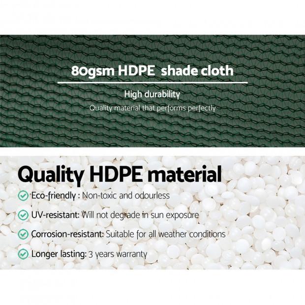 3.66x10m 30% UV Shade Cloth Sail Garden Mesh Roll Outdoor Green Image 4