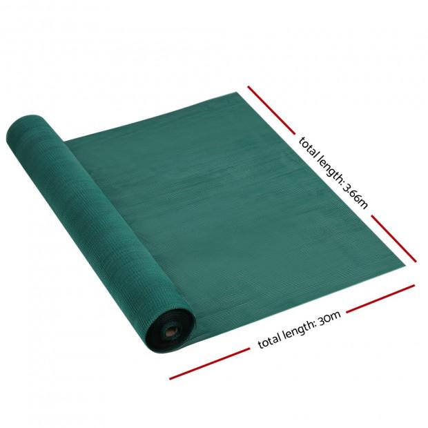 3.66x30m 50% UV Shade Cloth Shadecloth Sail Mesh Roll Outdoor Green Image 1