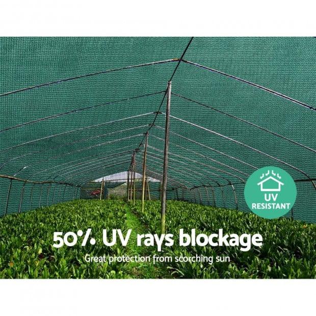 3.66x30m 50% UV Shade Cloth Shadecloth Sail Mesh Roll Outdoor Green Image 4