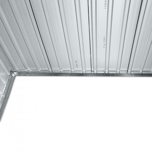 Outdoor Garden Tool Shed Steel 2.35 x 1.31m - Grey Image 10