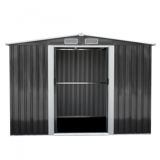 Giantz 2.57 x 3.12m Garden Shed with Roof - Grey Image 2