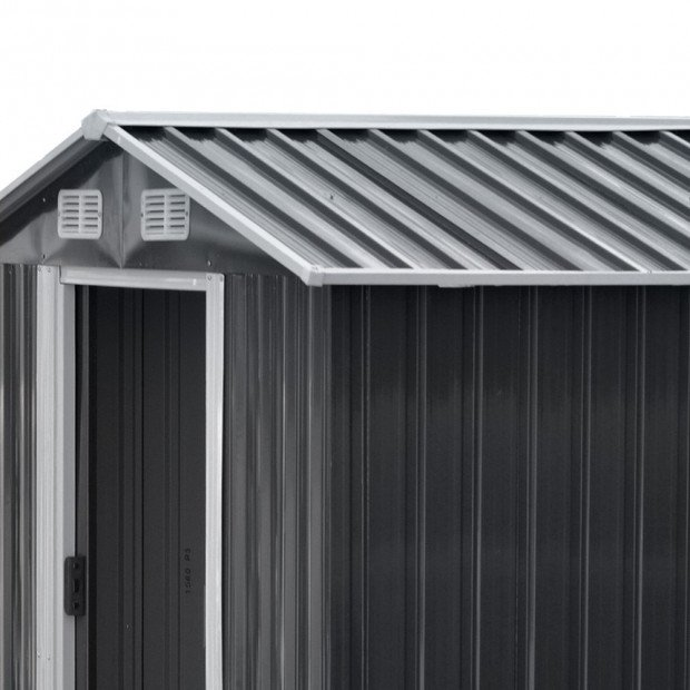 Giantz 2.57 x 3.12m Garden Shed with Roof - Grey Image 4