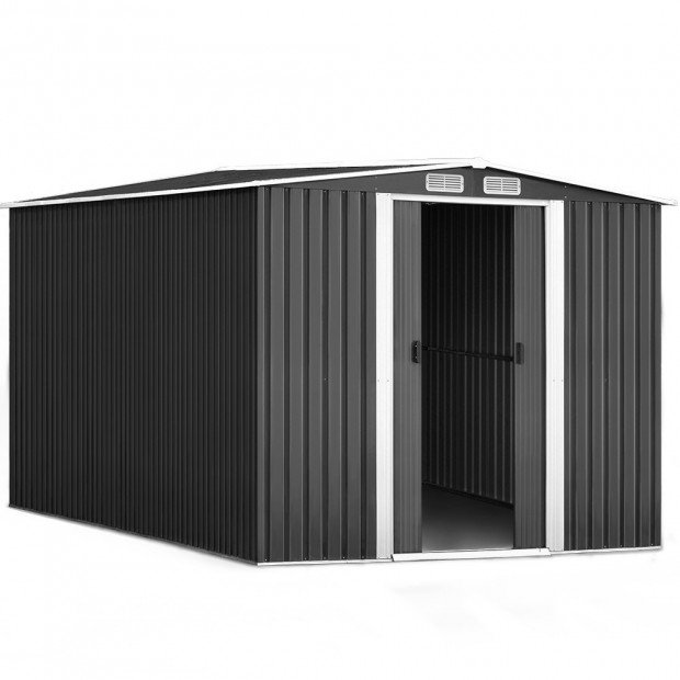 Garden Shed Workshop Shelter Metal with Roof 2.6x3.1x2M