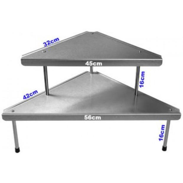Handy stainless steel corner shelf