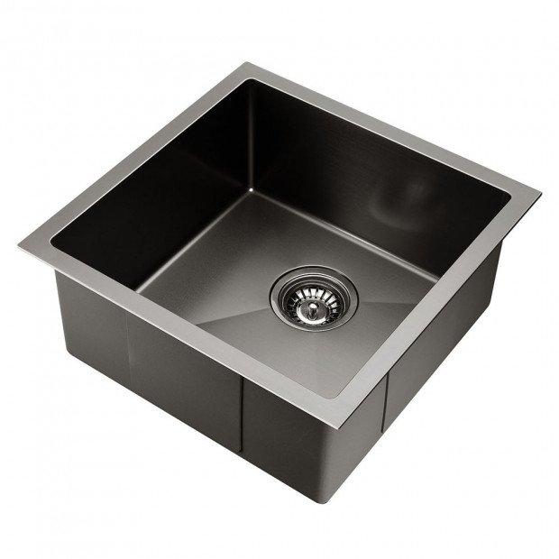 440 x 440mm Stainless Steel Sink - Black