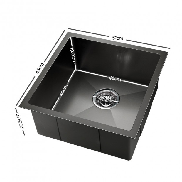 510x450mm Nano Stainless Steel Kitchen Sink Image 1
