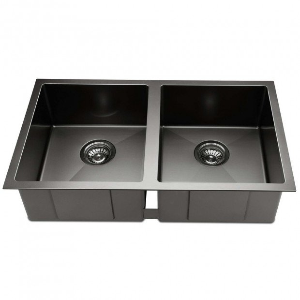 770 x 450mm Stainless Steel Sink - Black Image 2