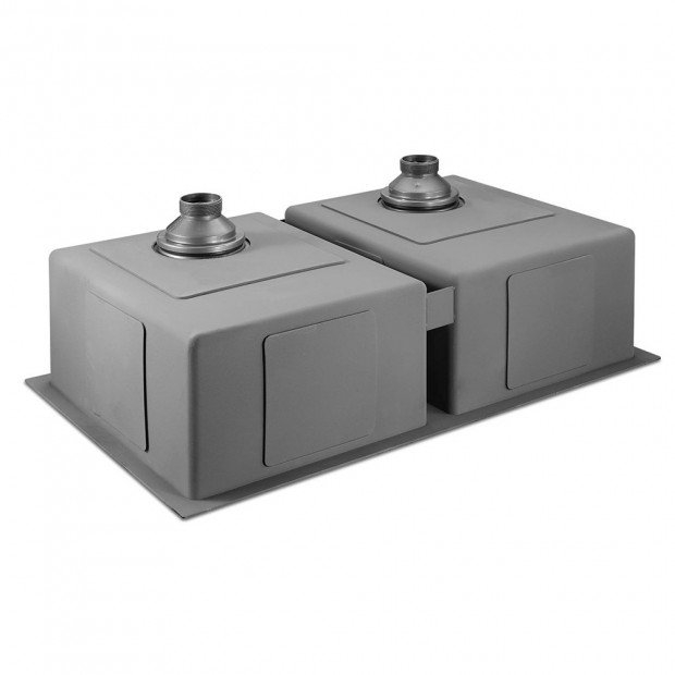 770 x 450mm Stainless Steel Sink - Black Image 3