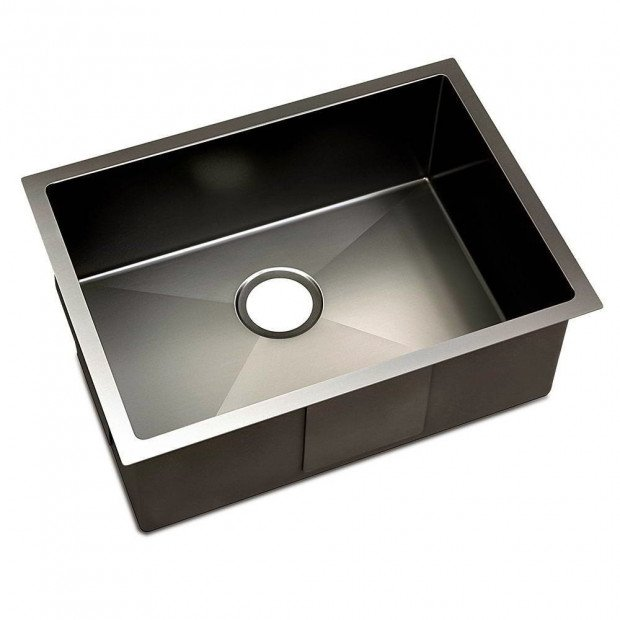 600 x 450mm Stainless Steel Sink - Black Image 1