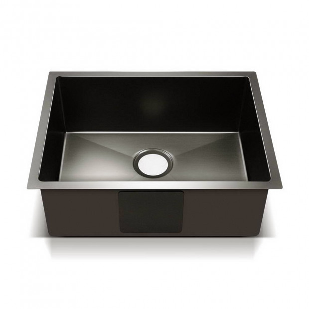 600 x 450mm Stainless Steel Sink - Black Image 2