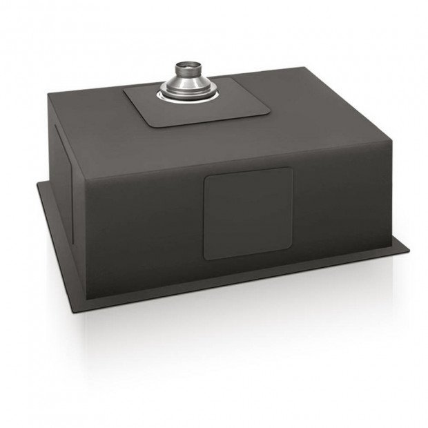 600 x 450mm Stainless Steel Sink - Black Image 3