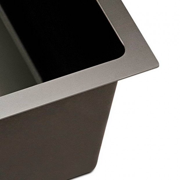 600 x 450mm Stainless Steel Sink - Black Image 6