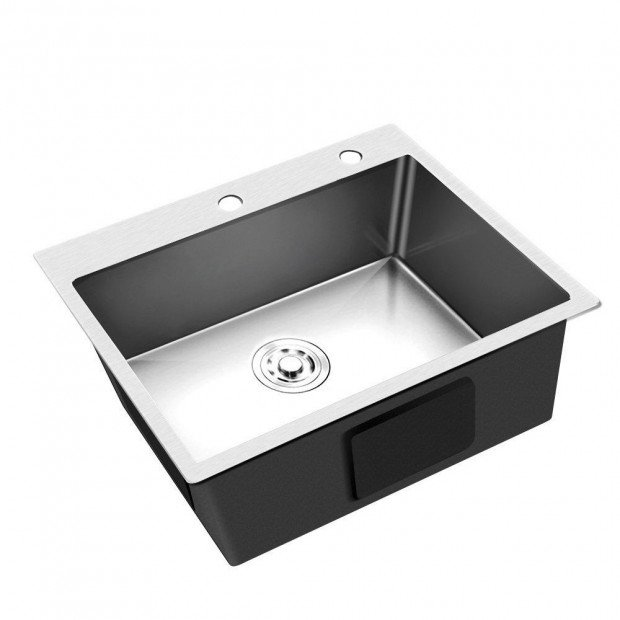 Stainless Steel Kitchen Sink 550x450MM SIngle Bowl Laundry Strainer Image 1