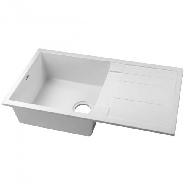 Kitchen Sink Granite Stone Top or Undermount Single White 860x500mm Image 1