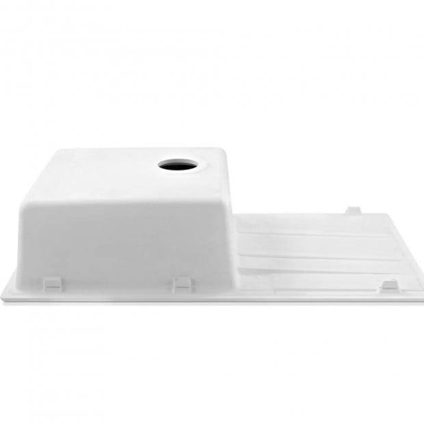 Kitchen Sink Granite Stone Top or Undermount Single White 860x500mm Image 2