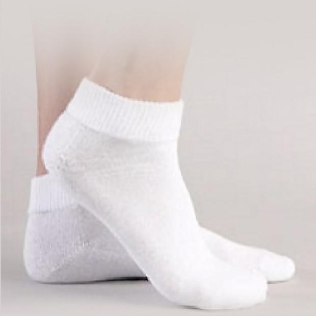 24 Pairs Plain White Ankle Cotton Blend Sports Socks (6-10)