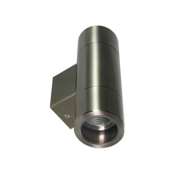 240V Wall-Mounted Up and Down LED Light - 3mm Stainless Steel