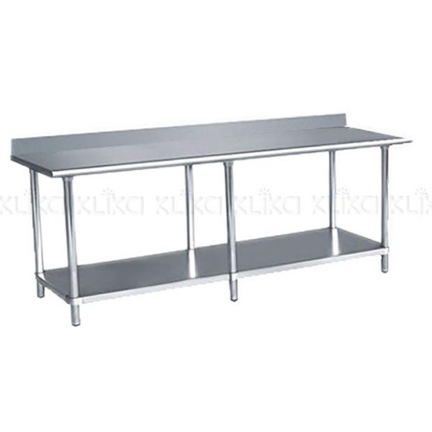 430 Slashback Stainless Steel workbench 2130 x 610