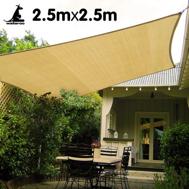 Wallaroo Shade sail 2.5 x 2.5m square