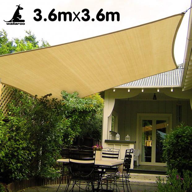 Wallaroo Shade sail 3.6x3.6m square