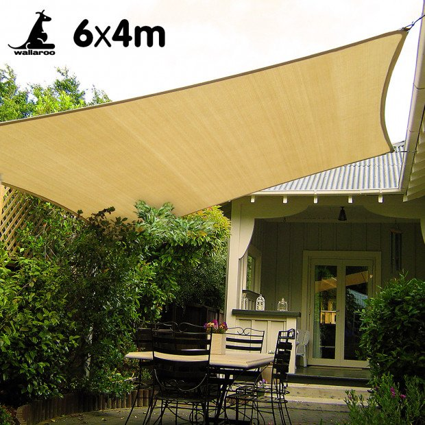 Wallaroo Shade sail 6x4m rectangle