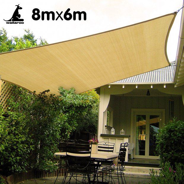 Wallaroo Shade sail 8x6m rectangle