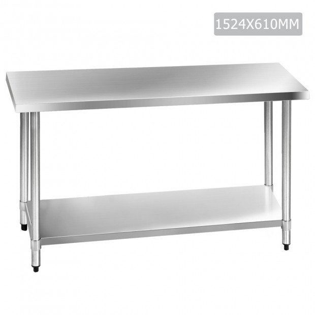 1524 x 610mm Commercial Stainless Steel Kitchen Bench
