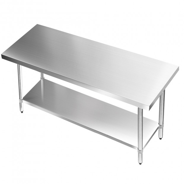1524 x 610mm Commercial Stainless Steel Kitchen Bench Image 3