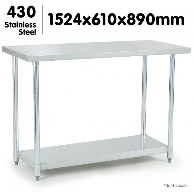 430 Stainless Steel workbench 610 x 1524