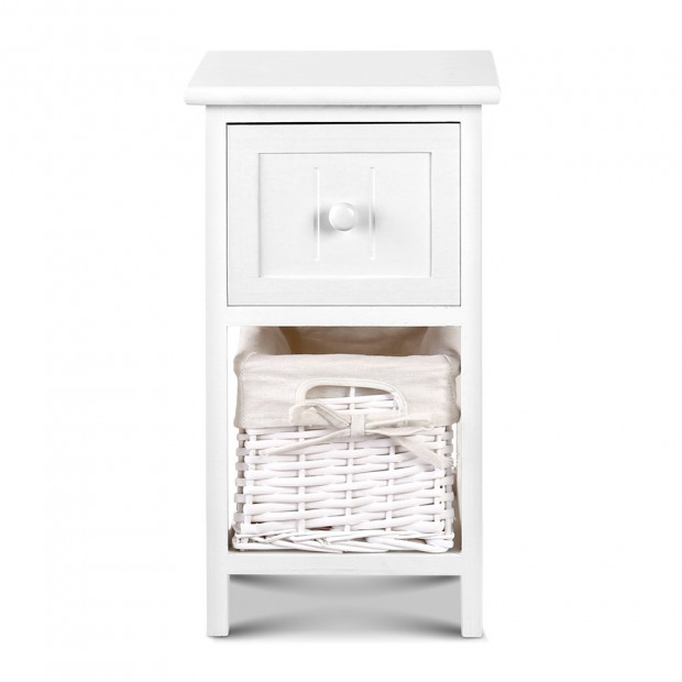2 PCS Ariss Bedside Table - White Image 3
