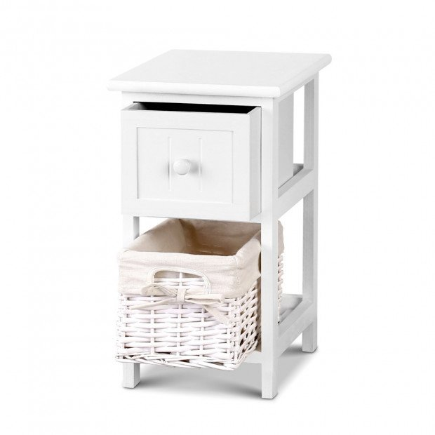 2 PCS Ariss Bedside Table - White Image 4