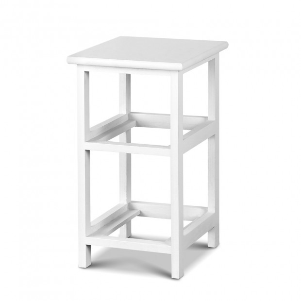 2 PCS Ariss Bedside Table - White Image 5