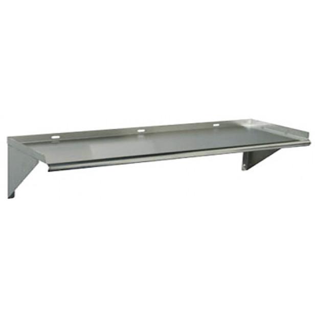 Stainless steel wall shelf 2400x400