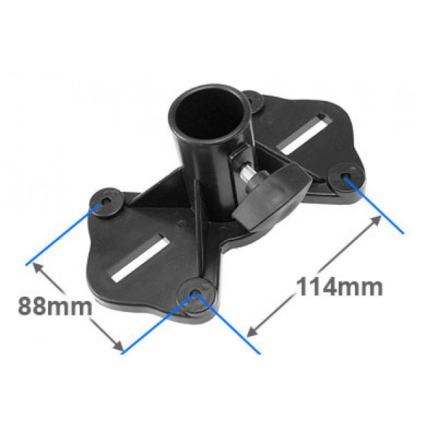 Pair adjustable tripod PA speaker stands Image 3