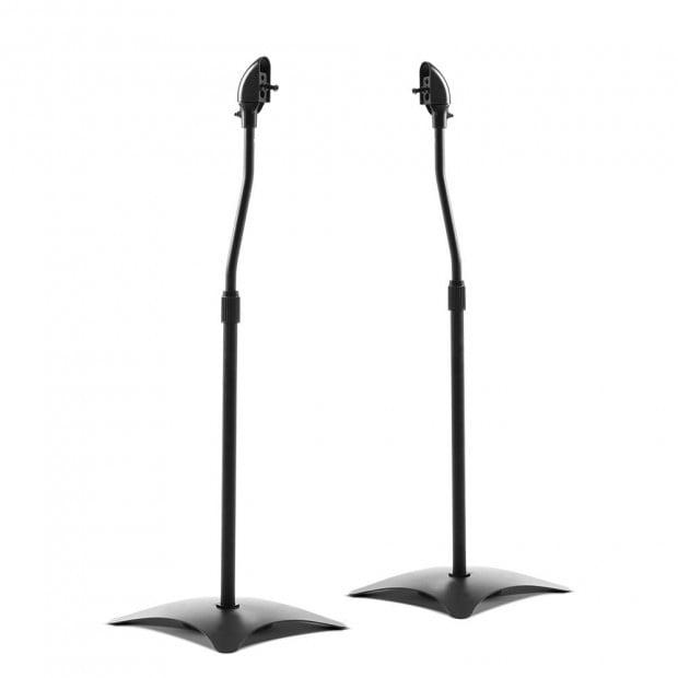 Set of 2 112CM Surround Sound Speaker Stand - Black Image 1