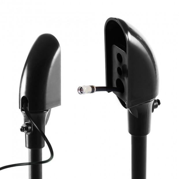 Set of 2 112CM Surround Sound Speaker Stand - Black Image 2