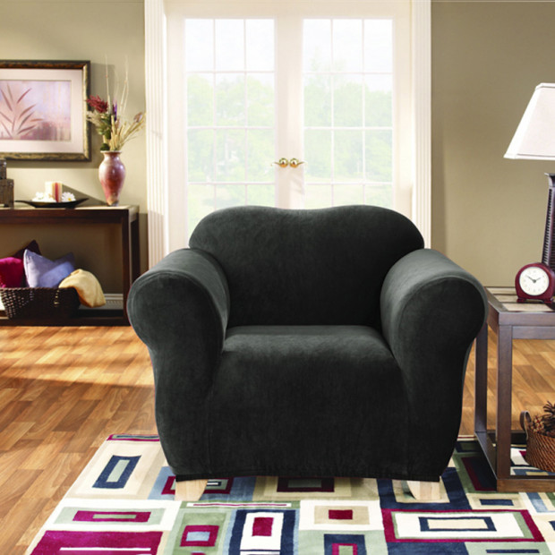 Sure Fit Armchair Pearson Sofa Cover - Ebony