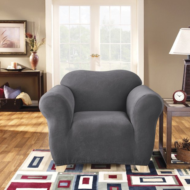 Sure Fit Armchair Pearson Sofa Cover - Slate
