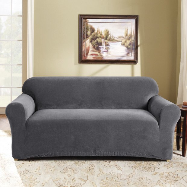 Sure Fit 2 Seater Pearson Sofa Cover - Slate