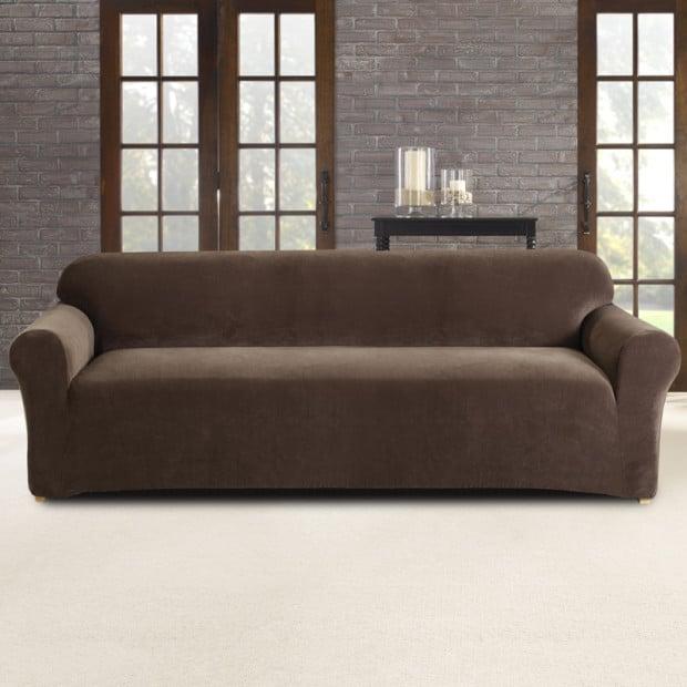Sure Fit 3 Seater Pearson Sofa Cover - Coffee