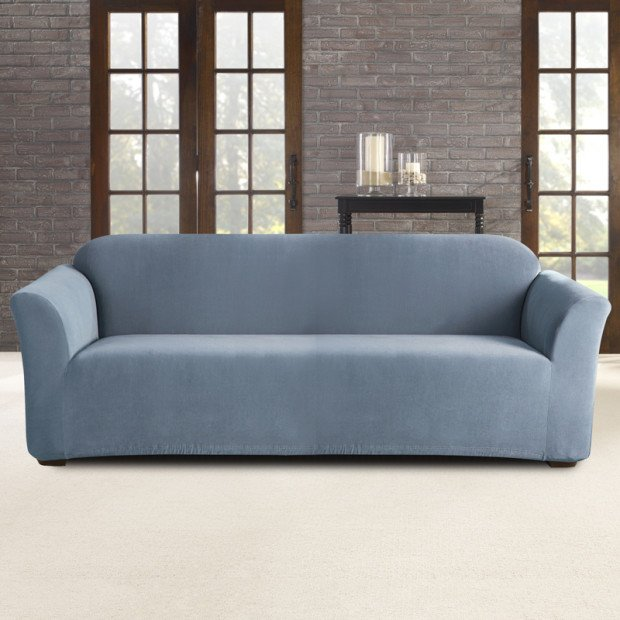 Sure Fit 3 Seater Pearson Sofa Cover - Federal Blue