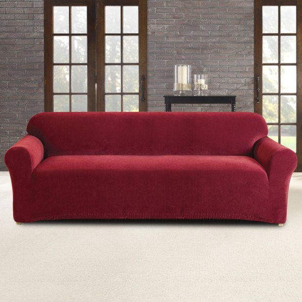 Sure Fit 3 Seater Pearson Sofa Cover - Red