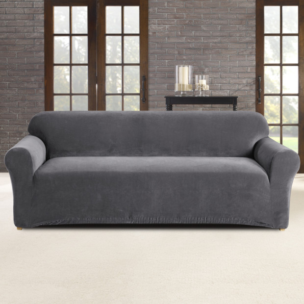 Sure Fit 3 Seater Pearson Sofa Cover - Slate